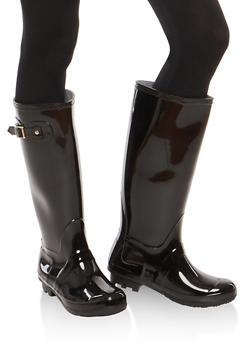 Weatherproof Buckle Detail Rain Boots - 1115014067234
