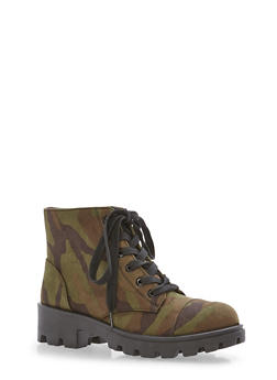 Lace Up Booties - 1116004068736