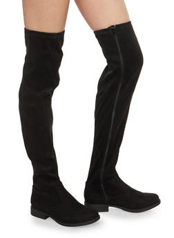 Over the Knee Faux Suede Boots - 1116014067672