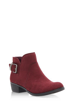 Back Buckle Booties - BURGUNDY F/S - 1116027615868