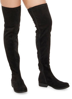 Flat Over the Knee Boots - BLACK F/S - 1116056633727