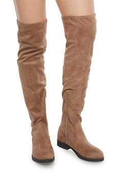 Flat Over the Knee Boots - MINK F/S - 1116056633727