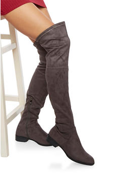 Over The Knee Boots with Cinch Cuffs - 1116057181659