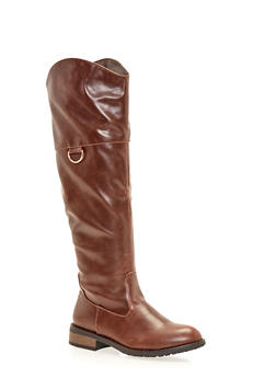 Riding Boots with Metal Ring - 1116073493393