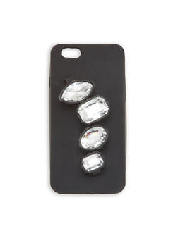Rubber iPhone 6 Case with Rhinestone Multi Finger Rings - 1120067447020