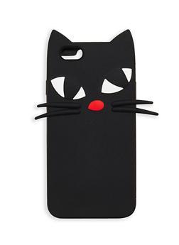 Silicone Cat iPhone 6 6s Case - BLACK - 1120067447023