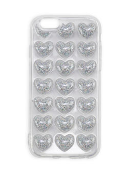Glitter Hearts iPhone 6 Case - SILVER - 1120067448000