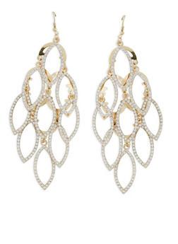 Rhinestone Chandelier Earrings - 1122018439124
