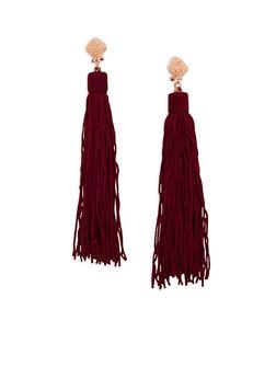 Post Back Tassel Earrings - 1122035150705
