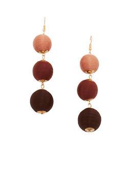 Thread Wrapped Bead Drop Earrings - 1122035150707