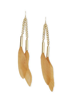 Duster Earrings with Feathers - 1122035153214
