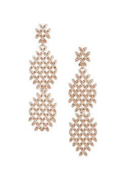 Chandelier Earrings with Crystals - 1122035156495