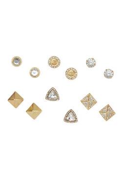 Set of 6 Assorted Stud Earrings - 1122035156536