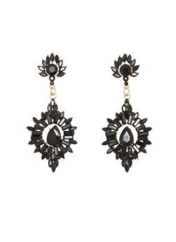 Gemstone Drop Earrings - 1122035159226