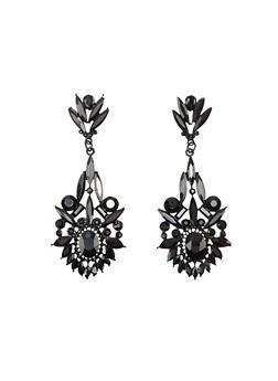 Gemstone Drop Earrings - 1122035159227