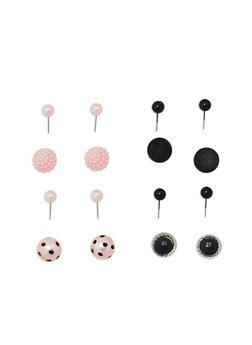 Faux Pearl Polka Dot Reversible Earrings - 1122057690756