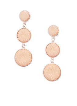 Rhinestone Circle Drop Earrings - 1122062816562