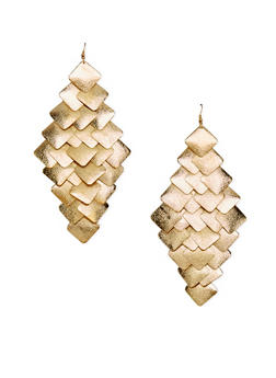 Tiered Geo Drop Earrings - 1122062920671