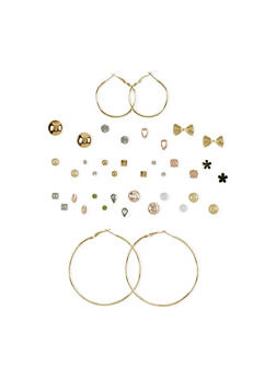 Set of 20 Stud and Hoop Earrings - 1122062921306