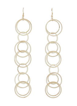 Circle Drop Earrings - 1122062922364