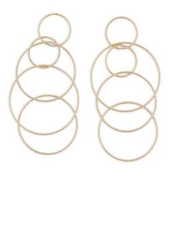 Linked Hoop Drop Earrings - 1122062922366