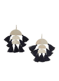 Tiered Tassel Drop Earrings - 1122062928302