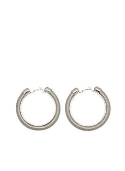 Thread Wrapped Hoop Earrings - 1122062929489
