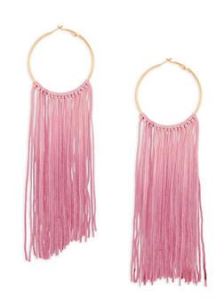 Ombre Tassel Hoop Earrings - 1122062929677