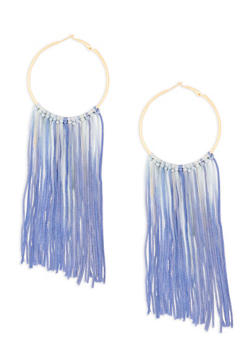 Ombre Tassel Hoop Earrings - 1122062929677