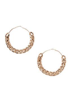 Curb Chain Hoop Earrings - 1122067257516