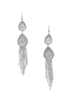 Chandelier Earrings with Teardrop Design - 1122071432101