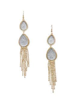 Chandelier Earrings with Teardrop Design - 1122071432101