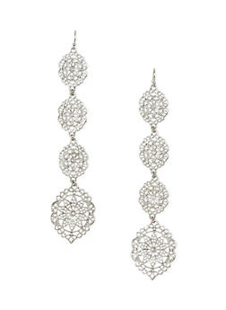 Duster Earrings with Filigree Design - 1122072696457