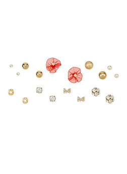 Set of 9 Stud Earrings - 1122072696458