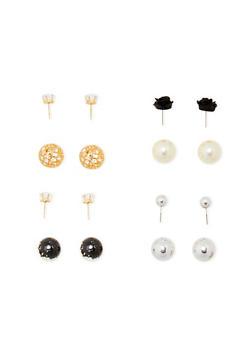 Ball Stud Reversible Earrings - 1122072697204