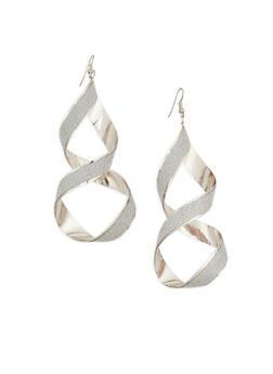 Glitter Twist Drop Earrings - 1122074144140