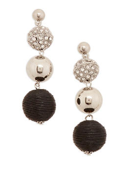 Linear Bead Drop Earrings - 1122074171709