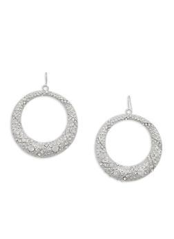Rhinestone Encrusted Hoop Earrings - 1122074171710