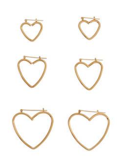 Multi Size Heart Hoop Earrings - 1122074171718