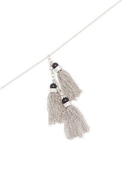 Chain Tassel Necklace - 1123003201322