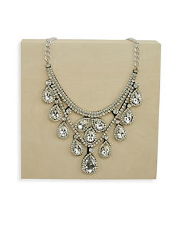 Rhinestone Chandelier Necklace - 1123003203061