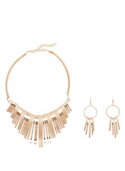 Collar Necklace and Earring Set - 1123003205022