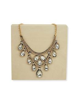 Jeweled Rhinestone Collar Necklace - 1123003206935