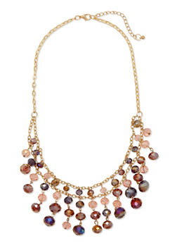 Beaded Bib Necklace - 1123044091171