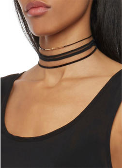 Set of 3 Assorted Choker Necklaces - 1123062811292