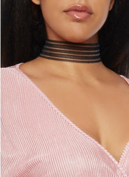 Mesh Choker Necklace - 1123062813313
