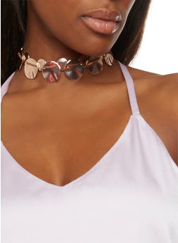 Metallic Geo Choker Necklace - 1123062922861