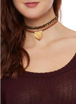 Set of 3 Choker Necklaces - GOLD - 1123062924662