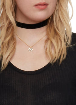 Set of 8 Choker Necklaces and Stud Earrings - 1123062924892