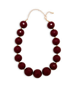 Large Faceted Bead Necklace - 1123062928885